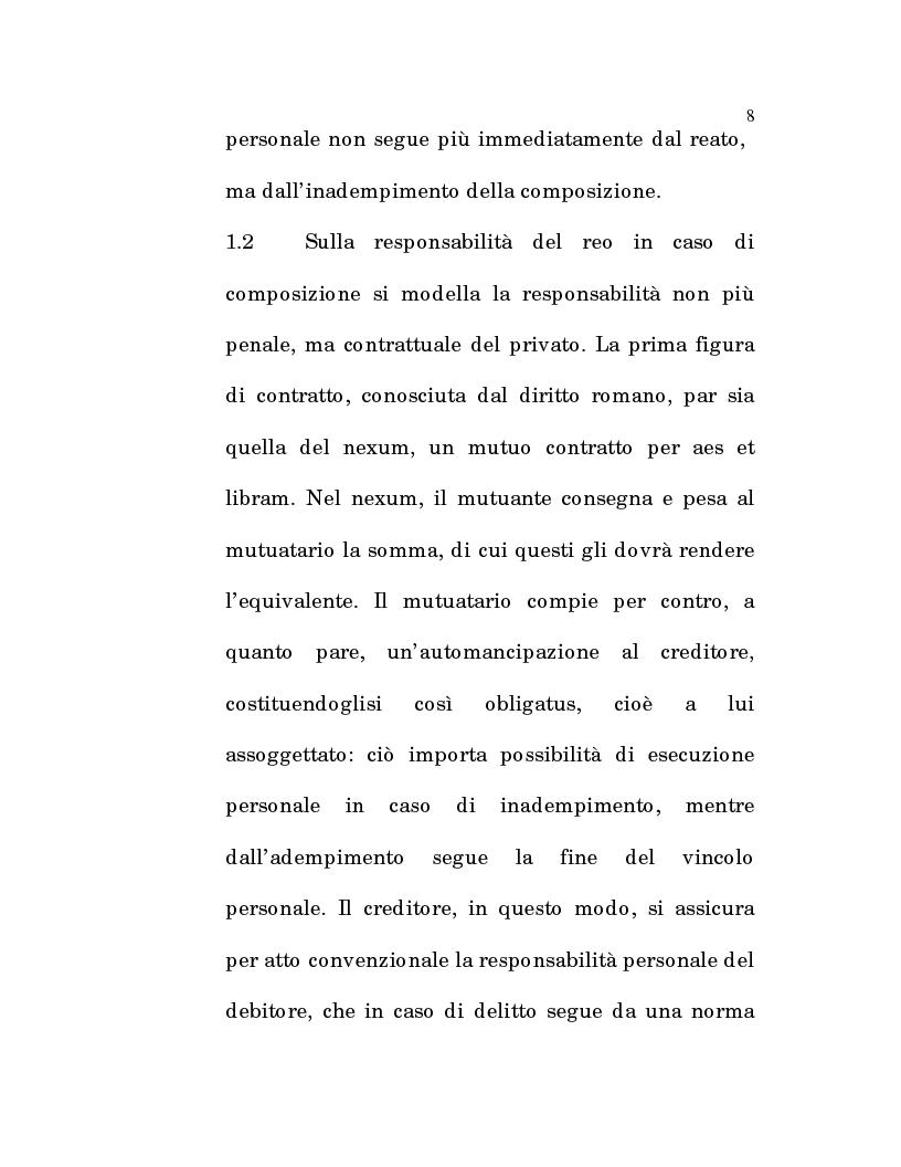 Anteprima della tesi: L'estinzione fittizia del rapporto obbligatorio, Pagina 6