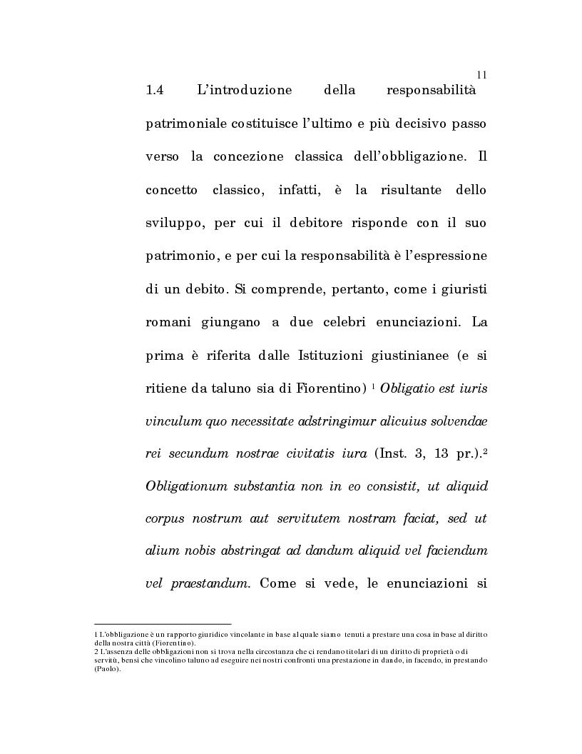 Anteprima della tesi: L'estinzione fittizia del rapporto obbligatorio, Pagina 9