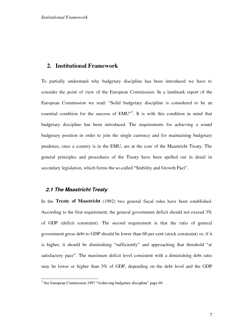 Anteprima della tesi: Fiscal Rules in European Monetary Union: a Comparison between Stability and Growth Pact and the Golden Rule, Pagina 4