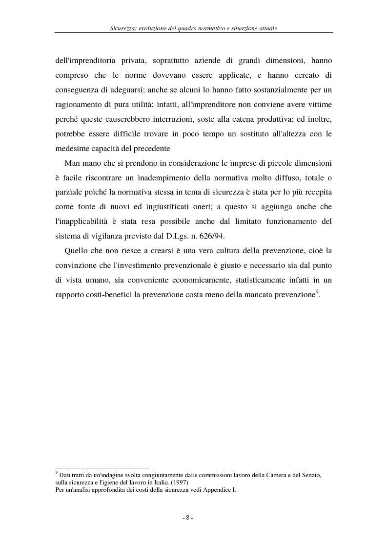 Anteprima della tesi: I soggetti predisposti all'obbligo di attuazione della sicurezza nel D. Lgs. n. 626/94, Pagina 11