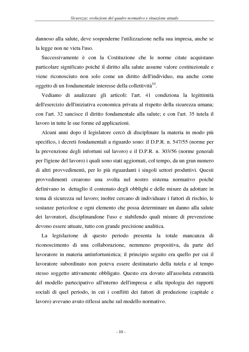 Anteprima della tesi: I soggetti predisposti all'obbligo di attuazione della sicurezza nel D. Lgs. n. 626/94, Pagina 13