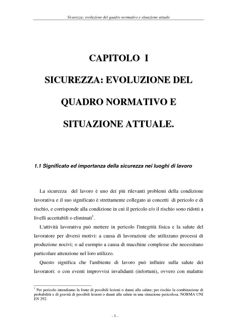 Anteprima della tesi: I soggetti predisposti all'obbligo di attuazione della sicurezza nel D. Lgs. n. 626/94, Pagina 4
