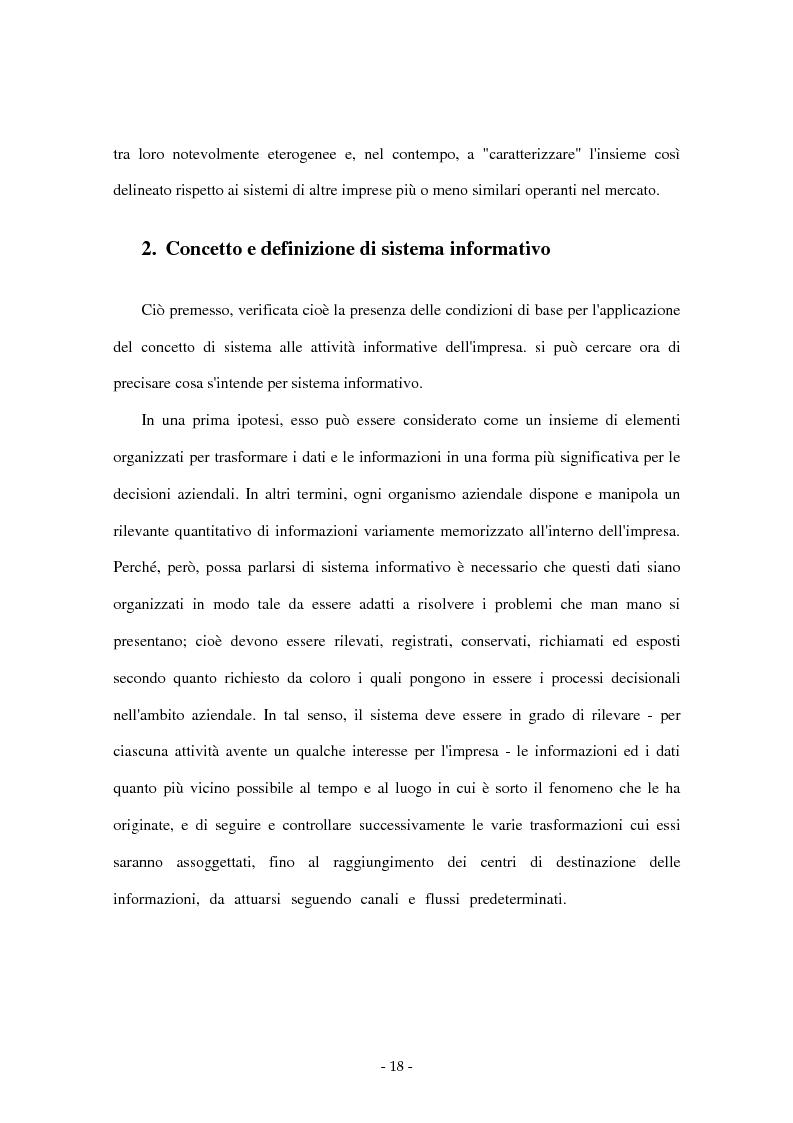 Anteprima della tesi: I sistemi di supporto alle decisioni aziendali ''Decision Support System'', Pagina 15