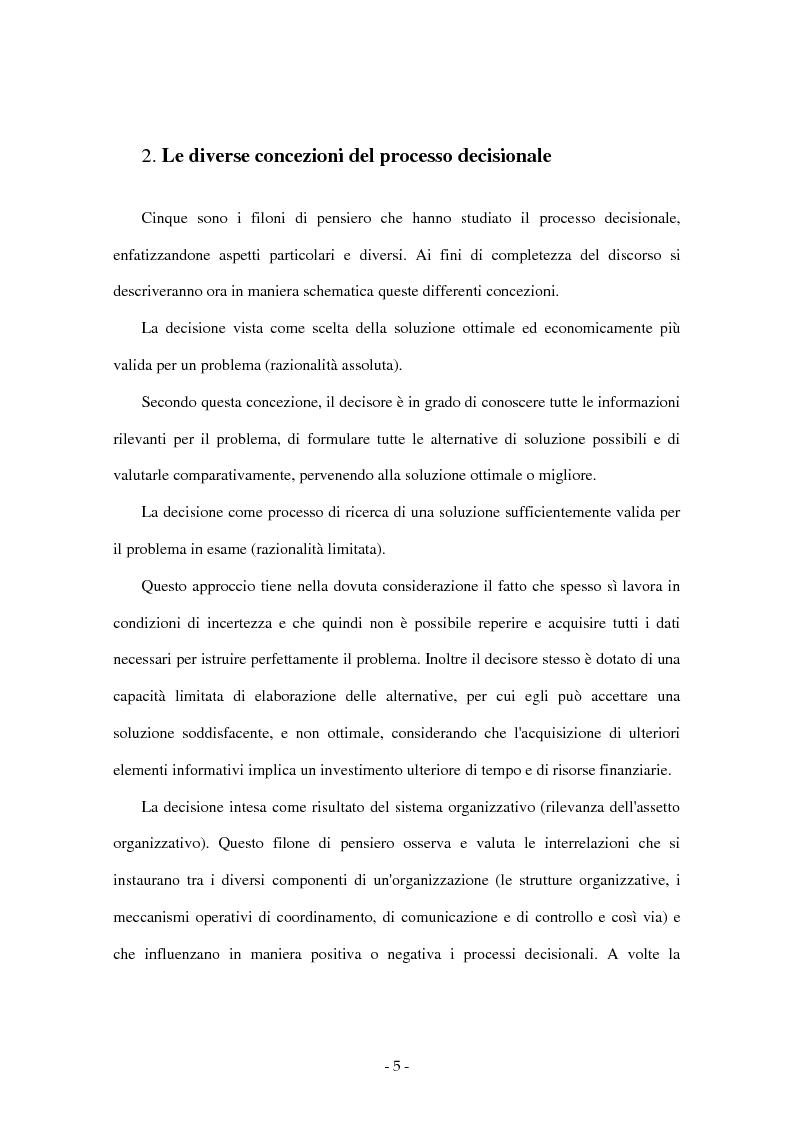 Anteprima della tesi: I sistemi di supporto alle decisioni aziendali ''Decision Support System'', Pagina 2