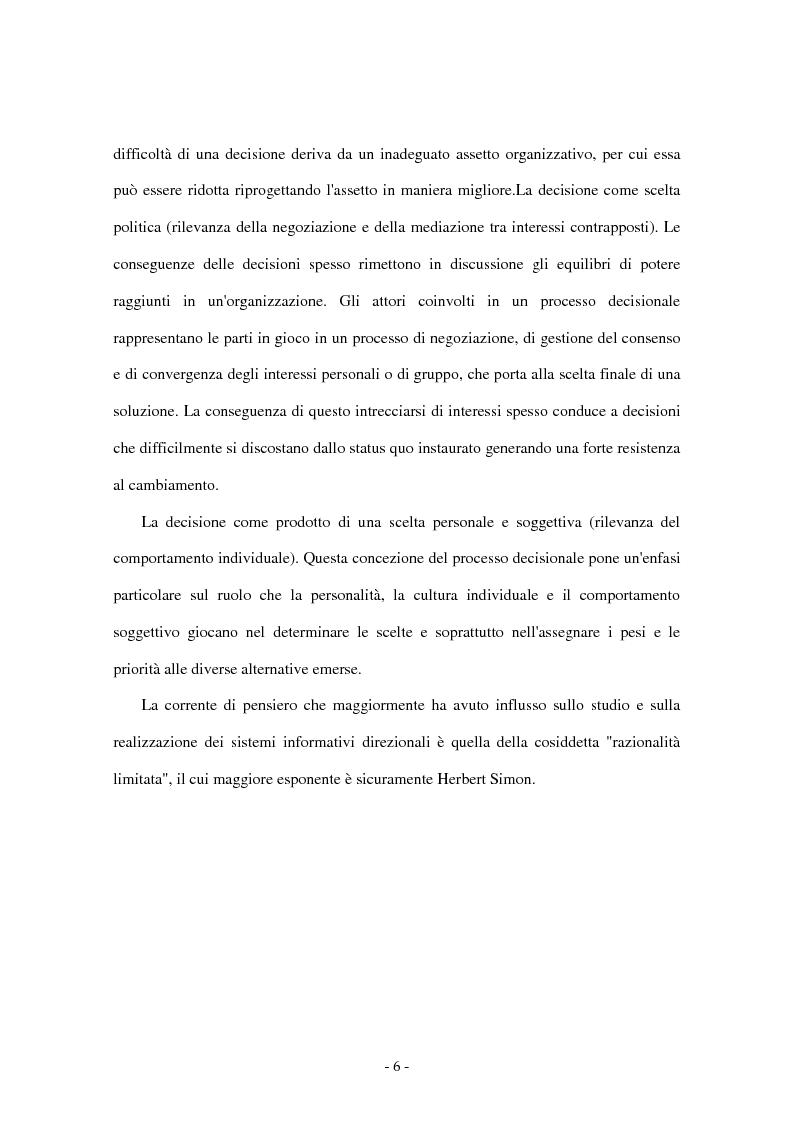 Anteprima della tesi: I sistemi di supporto alle decisioni aziendali ''Decision Support System'', Pagina 3