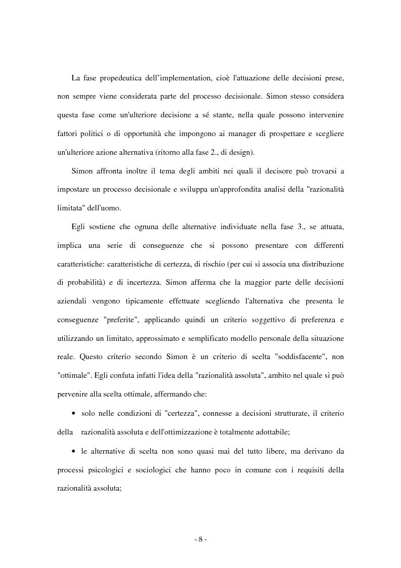 Anteprima della tesi: I sistemi di supporto alle decisioni aziendali ''Decision Support System'', Pagina 5