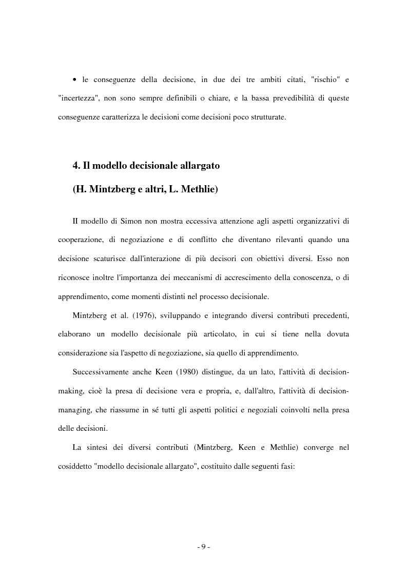Anteprima della tesi: I sistemi di supporto alle decisioni aziendali ''Decision Support System'', Pagina 6