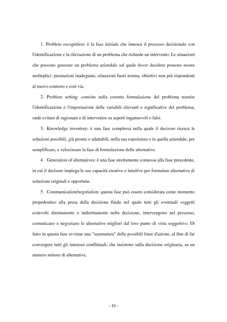 Anteprima della tesi: I sistemi di supporto alle decisioni aziendali ''Decision Support System'', Pagina 7
