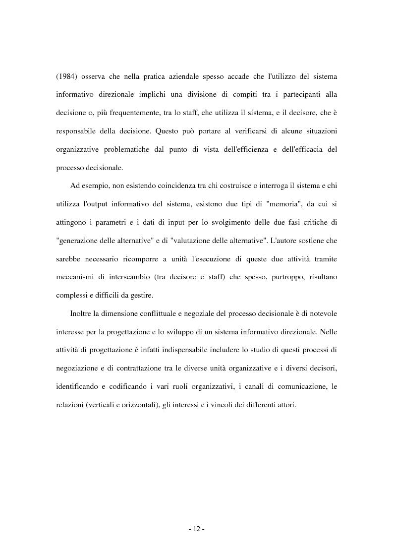 Anteprima della tesi: I sistemi di supporto alle decisioni aziendali ''Decision Support System'', Pagina 9