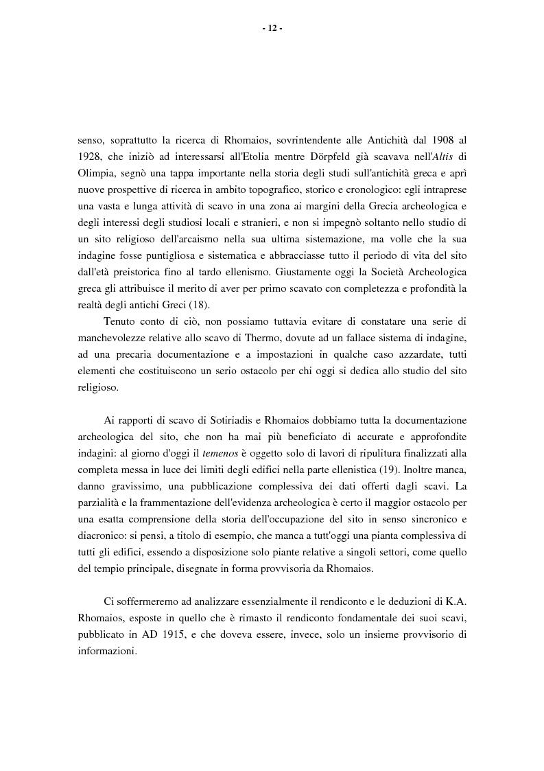 Anteprima della tesi: L'Etolia arcaica e il centro di Thermos, Pagina 10