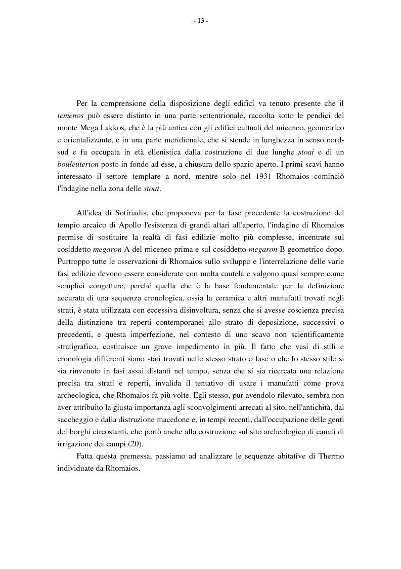Anteprima della tesi: L'Etolia arcaica e il centro di Thermos, Pagina 11