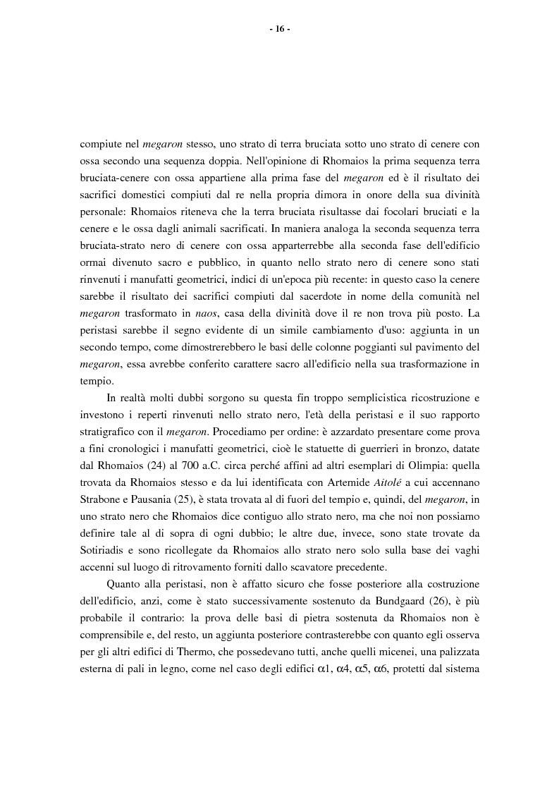Anteprima della tesi: L'Etolia arcaica e il centro di Thermos, Pagina 14