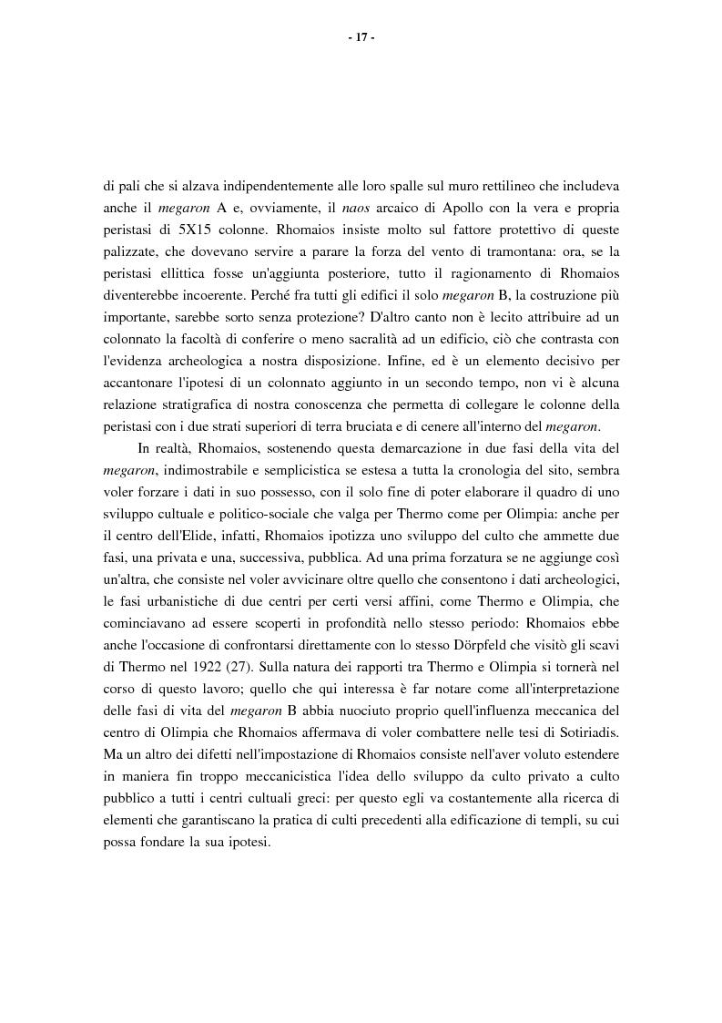 Anteprima della tesi: L'Etolia arcaica e il centro di Thermos, Pagina 15