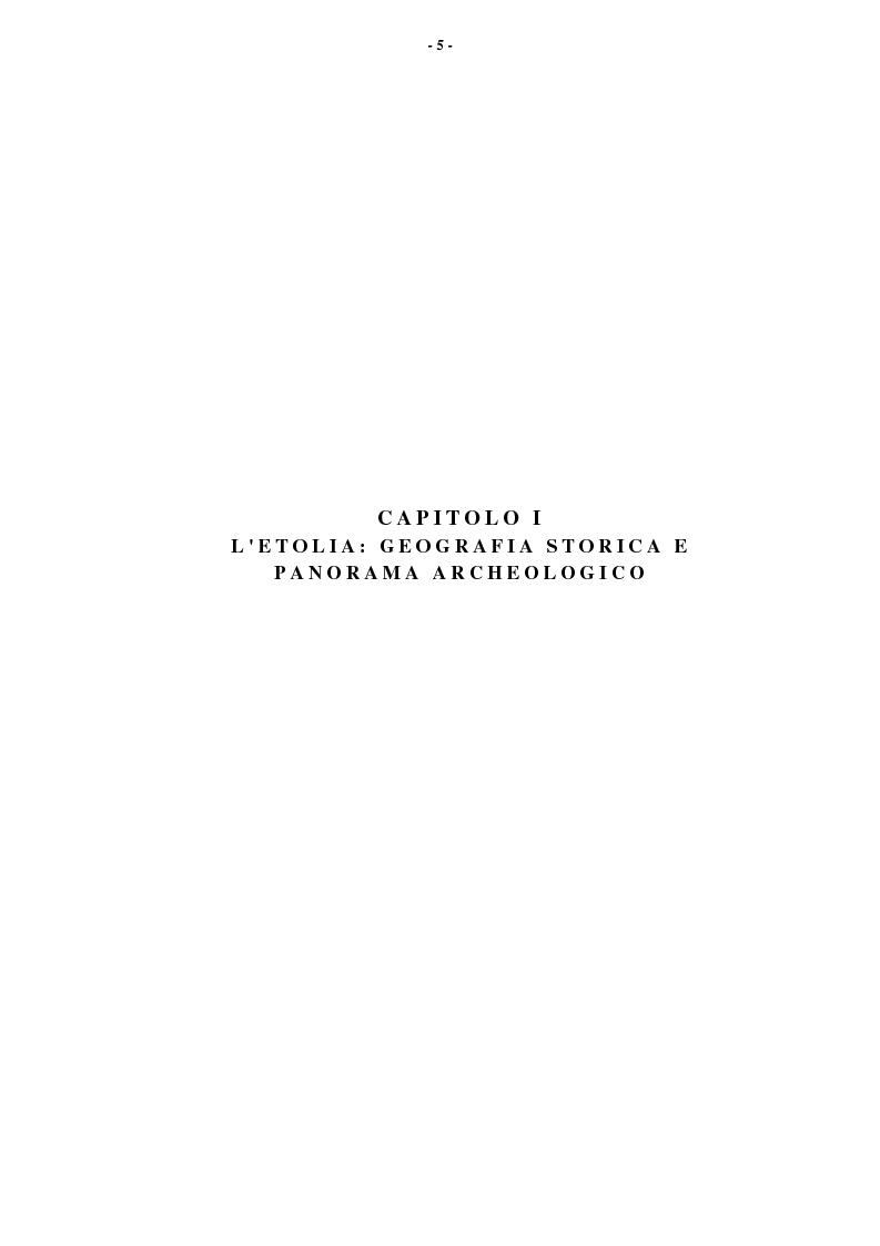 Anteprima della tesi: L'Etolia arcaica e il centro di Thermos, Pagina 3