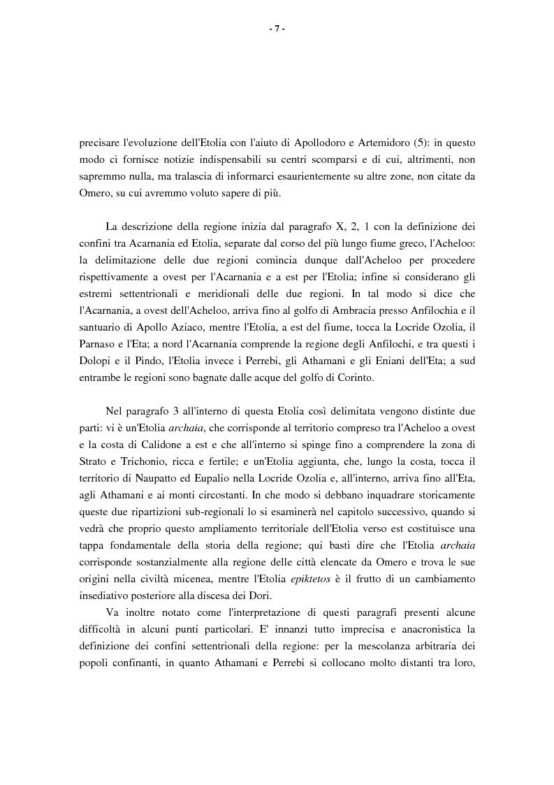 Anteprima della tesi: L'Etolia arcaica e il centro di Thermos, Pagina 5