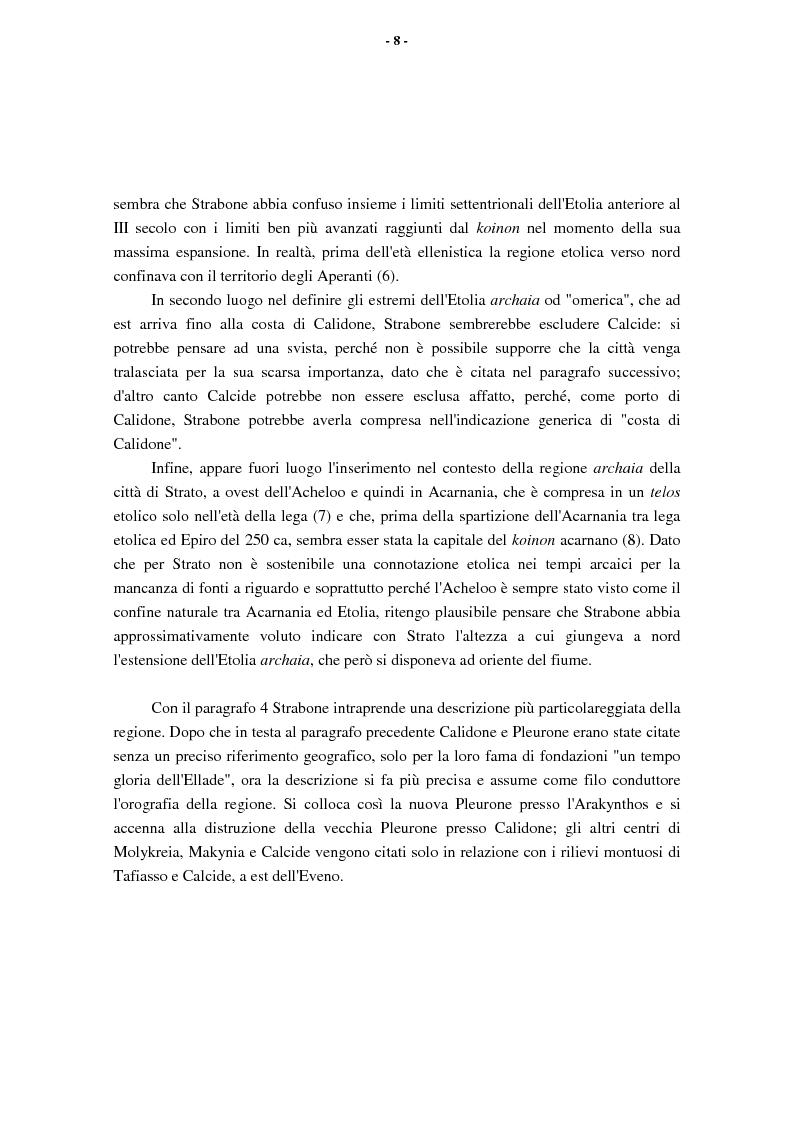 Anteprima della tesi: L'Etolia arcaica e il centro di Thermos, Pagina 6