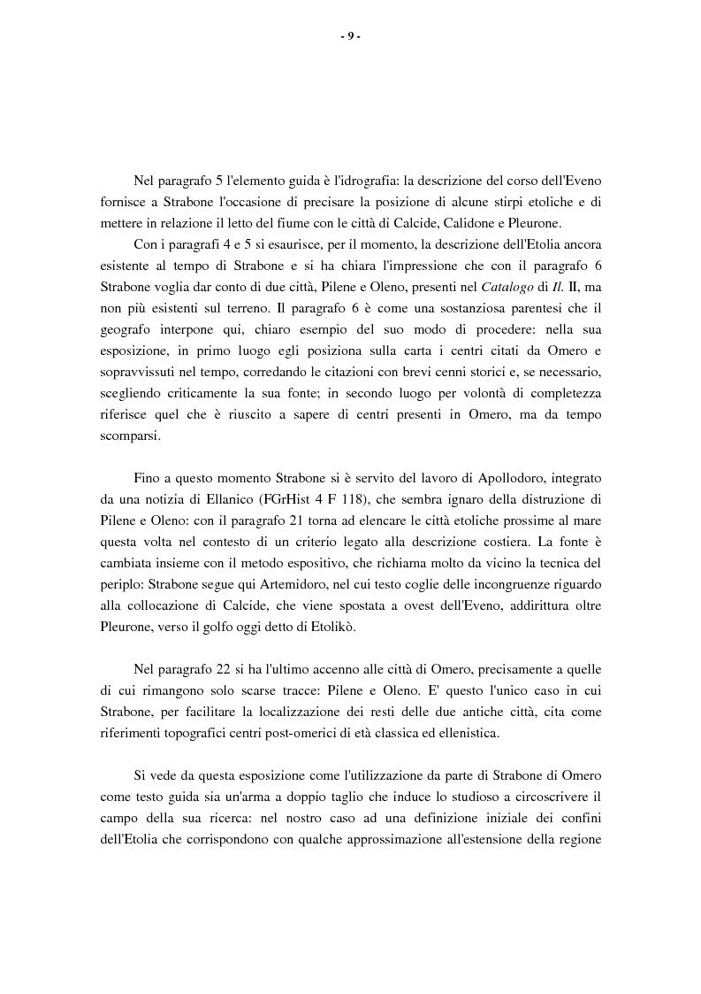 Anteprima della tesi: L'Etolia arcaica e il centro di Thermos, Pagina 7