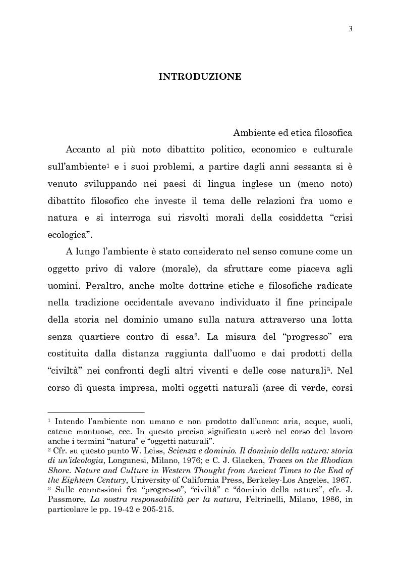 Anteprima della tesi: Etica e ambiente, Pagina 1