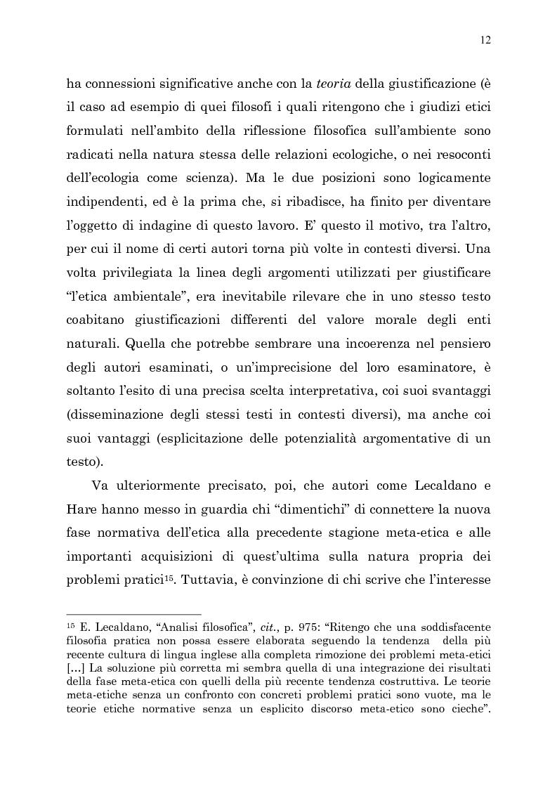 Anteprima della tesi: Etica e ambiente, Pagina 10
