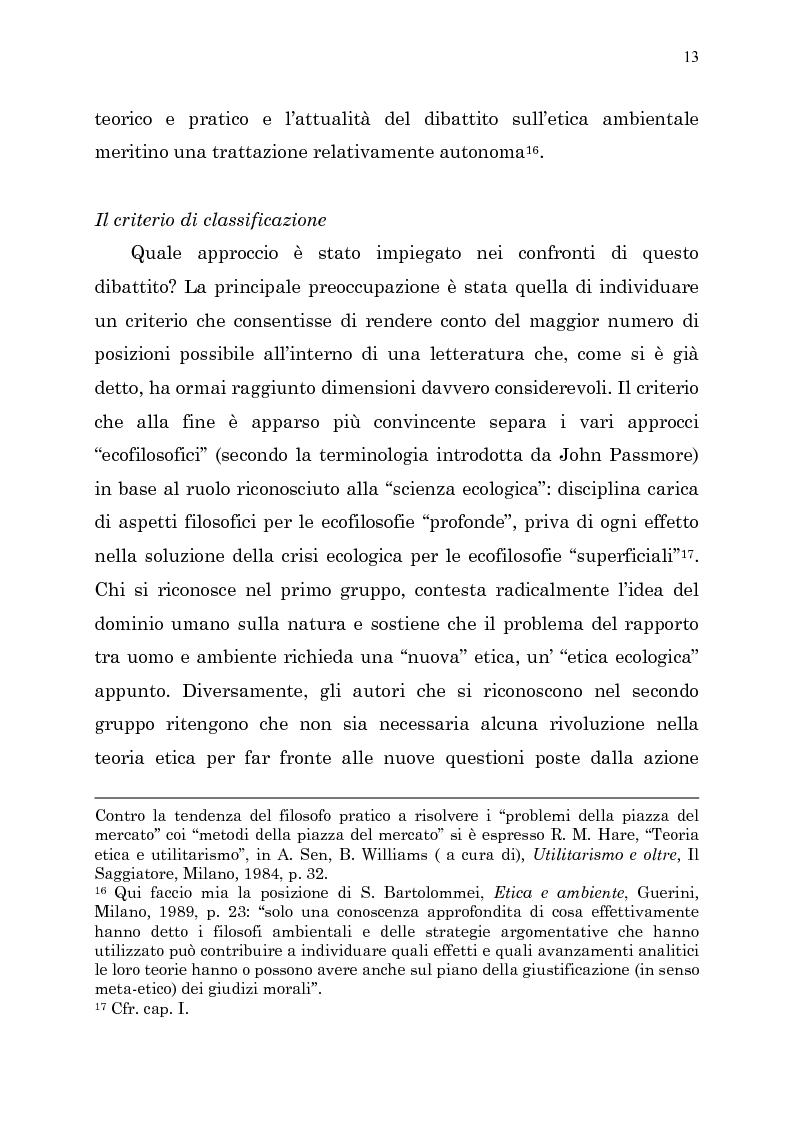 Anteprima della tesi: Etica e ambiente, Pagina 11