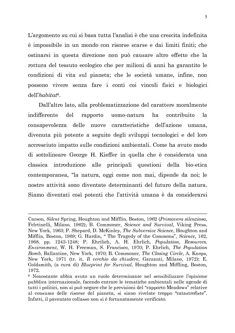 Anteprima della tesi: Etica e ambiente, Pagina 3