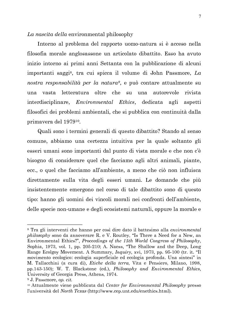 Anteprima della tesi: Etica e ambiente, Pagina 5