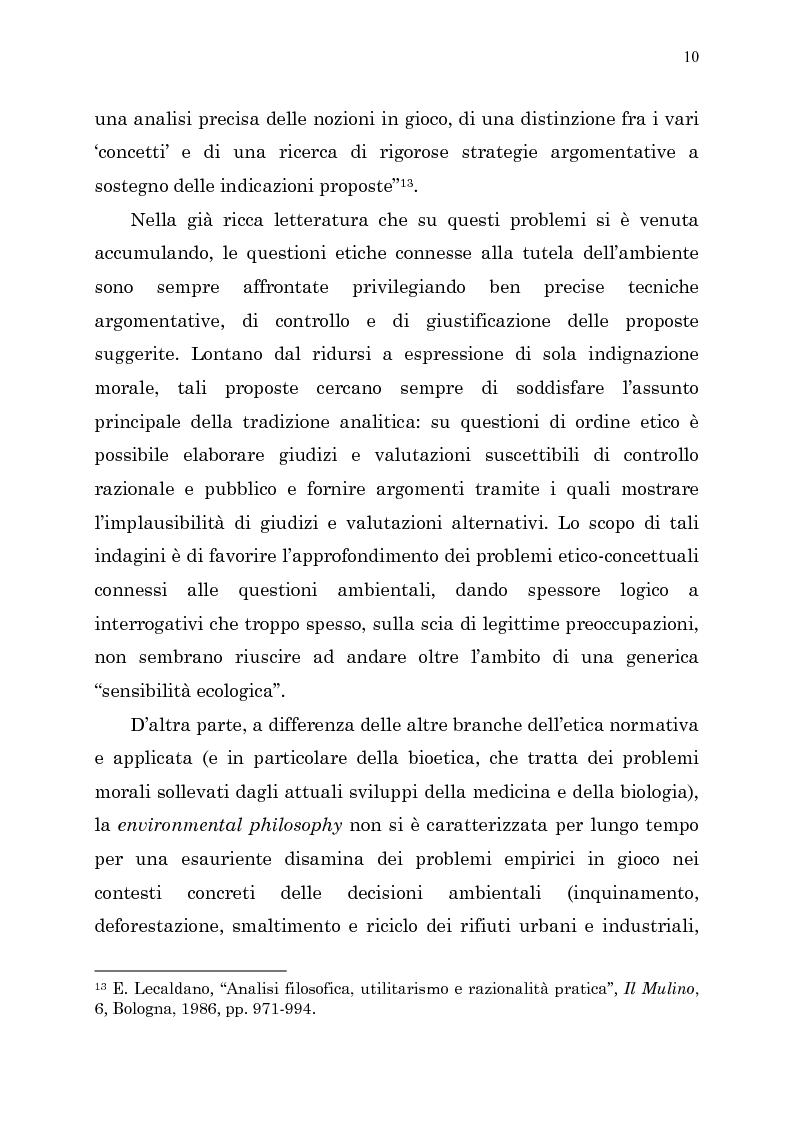 Anteprima della tesi: Etica e ambiente, Pagina 8