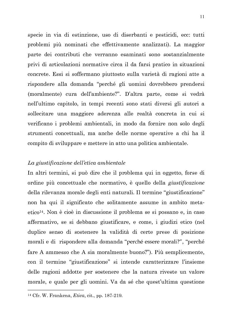 Anteprima della tesi: Etica e ambiente, Pagina 9