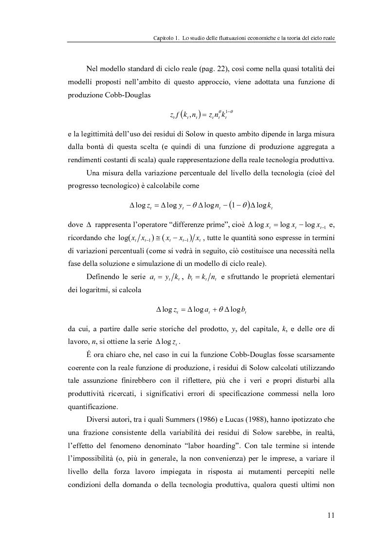 Anteprima della tesi: Ciclo reale e metodologia di ''calibrazione'': sviluppi teorici ed esperimenti computazionali, Pagina 11