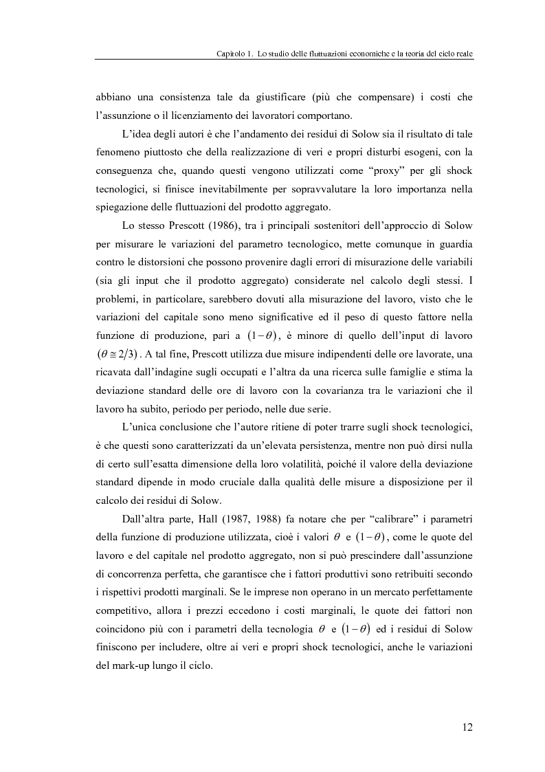 Anteprima della tesi: Ciclo reale e metodologia di ''calibrazione'': sviluppi teorici ed esperimenti computazionali, Pagina 12