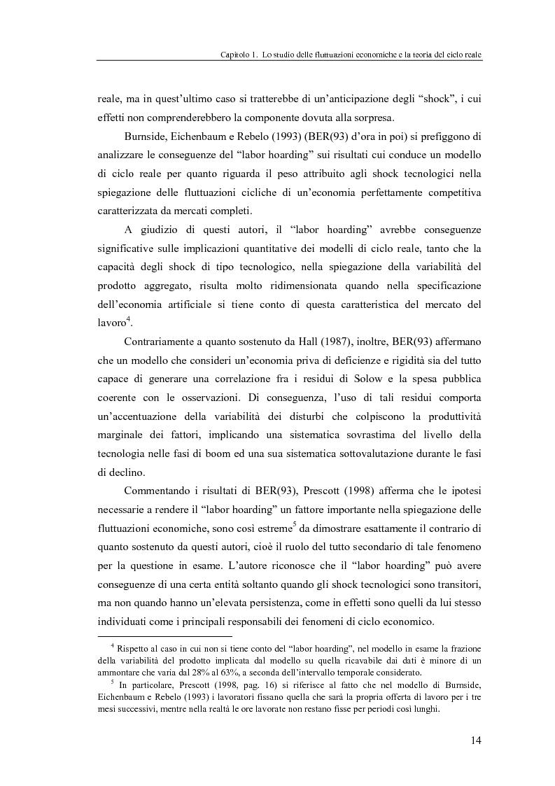 Anteprima della tesi: Ciclo reale e metodologia di ''calibrazione'': sviluppi teorici ed esperimenti computazionali, Pagina 14