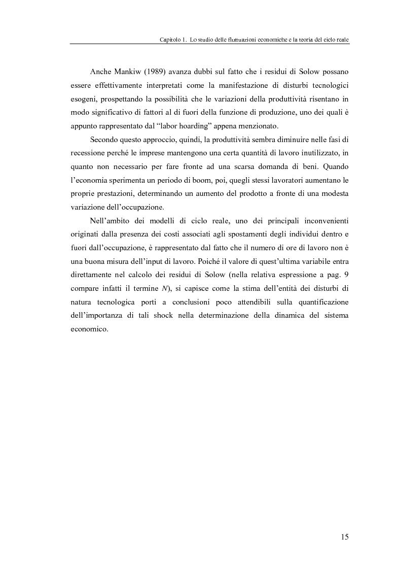 Anteprima della tesi: Ciclo reale e metodologia di ''calibrazione'': sviluppi teorici ed esperimenti computazionali, Pagina 15