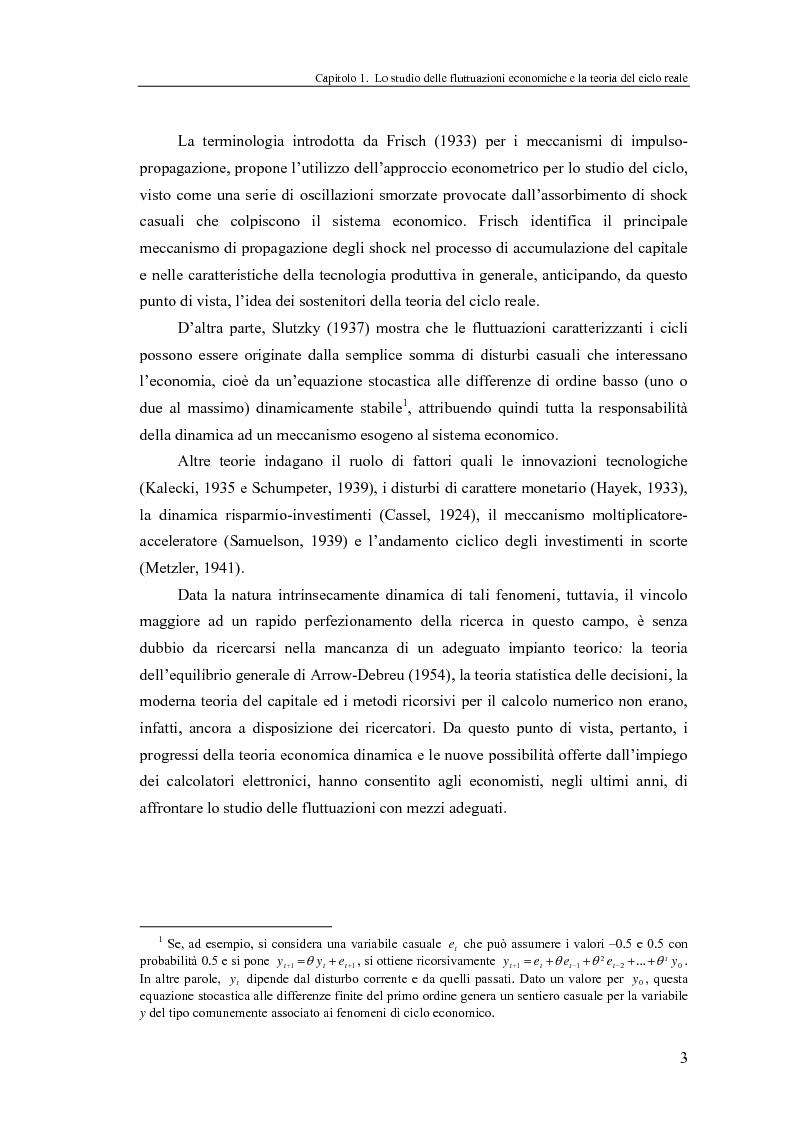 Anteprima della tesi: Ciclo reale e metodologia di ''calibrazione'': sviluppi teorici ed esperimenti computazionali, Pagina 3
