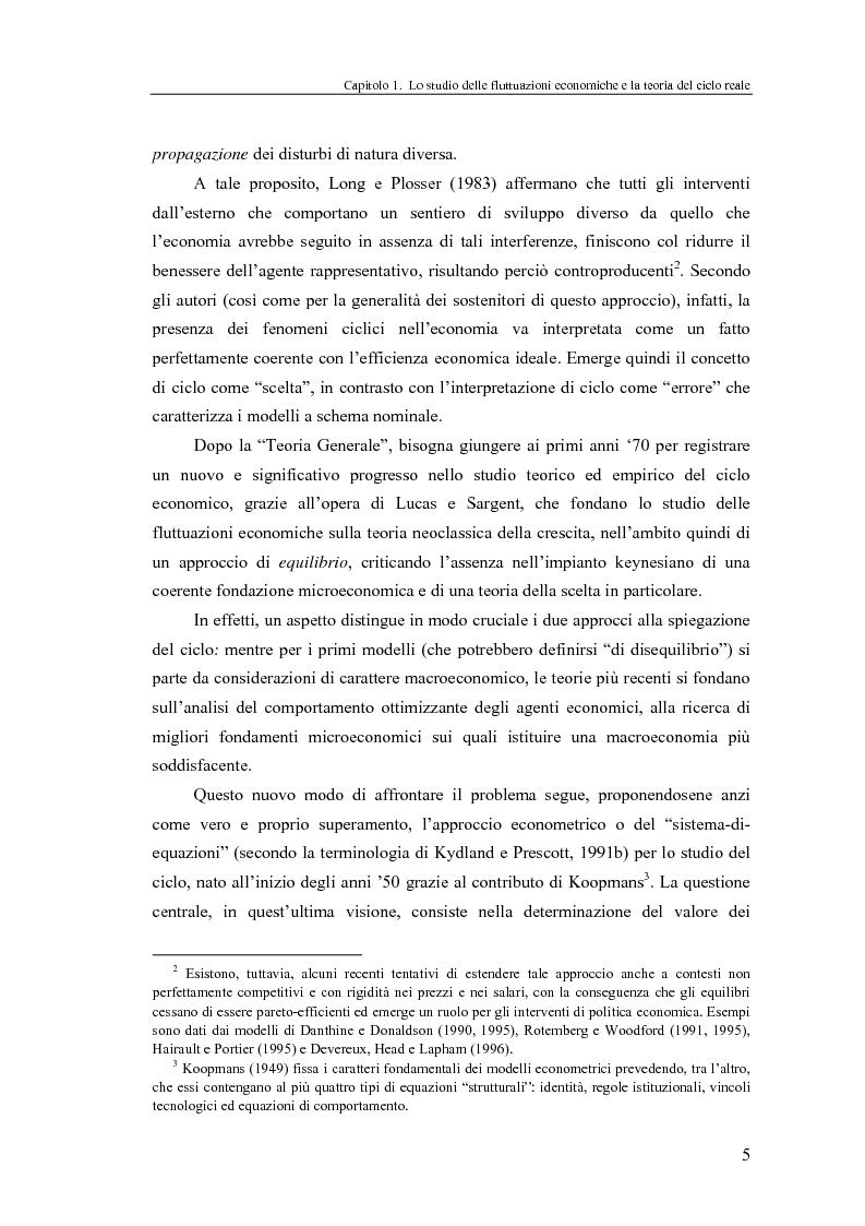 Anteprima della tesi: Ciclo reale e metodologia di ''calibrazione'': sviluppi teorici ed esperimenti computazionali, Pagina 5