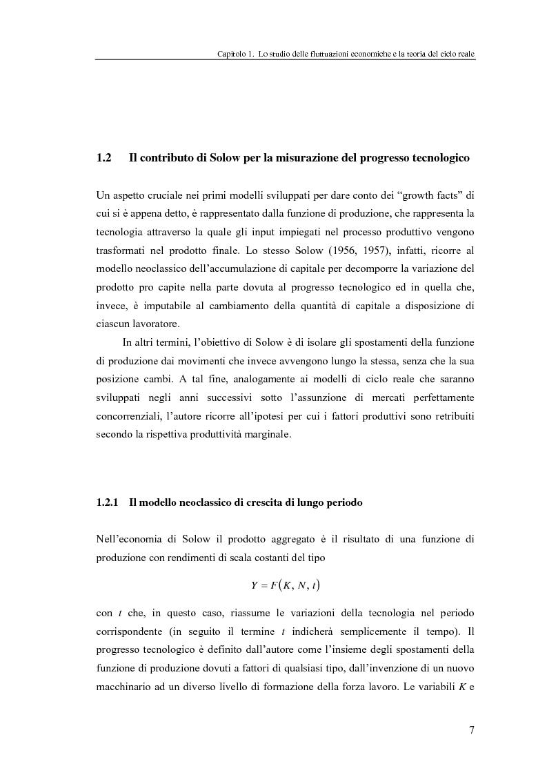 Anteprima della tesi: Ciclo reale e metodologia di ''calibrazione'': sviluppi teorici ed esperimenti computazionali, Pagina 7