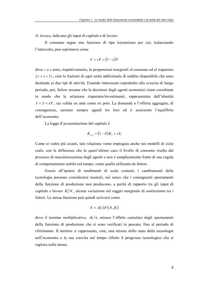Anteprima della tesi: Ciclo reale e metodologia di ''calibrazione'': sviluppi teorici ed esperimenti computazionali, Pagina 8
