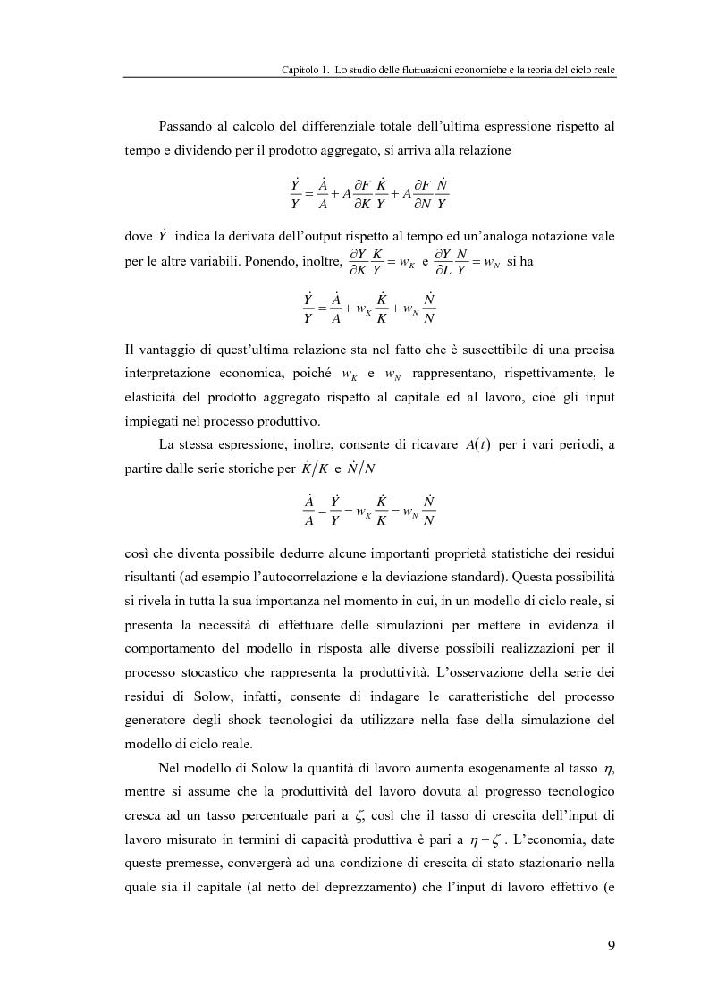 Anteprima della tesi: Ciclo reale e metodologia di ''calibrazione'': sviluppi teorici ed esperimenti computazionali, Pagina 9