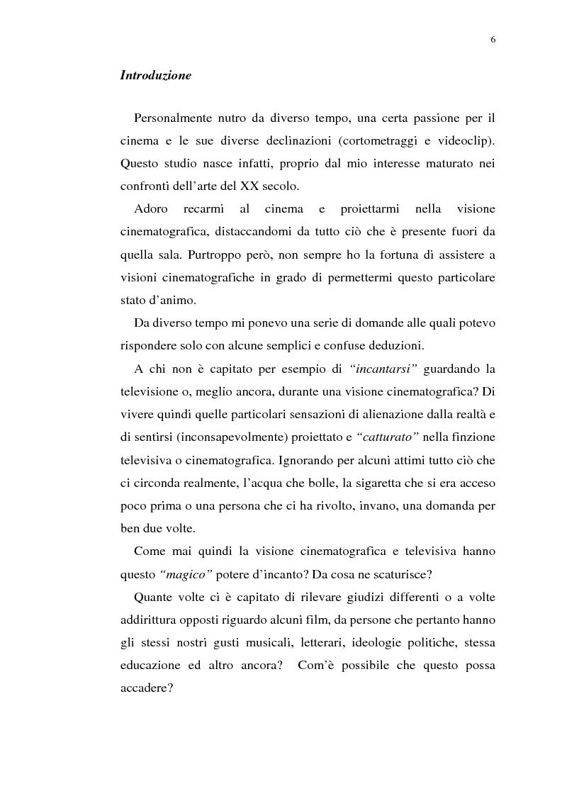 Anteprima della tesi: Fenomenologia del film e della visione cinematografica: struttura, identificazione, percezione, incanto., Pagina 1