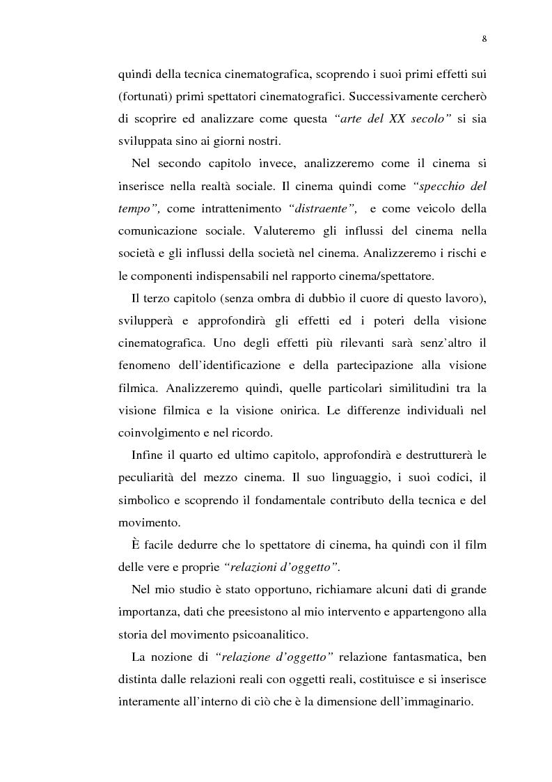 Anteprima della tesi: Fenomenologia del film e della visione cinematografica: struttura, identificazione, percezione, incanto., Pagina 3