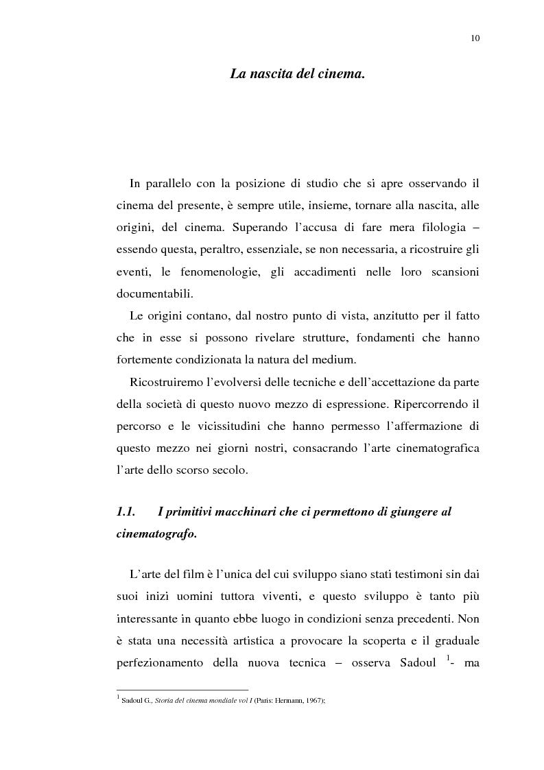 Anteprima della tesi: Fenomenologia del film e della visione cinematografica: struttura, identificazione, percezione, incanto., Pagina 5