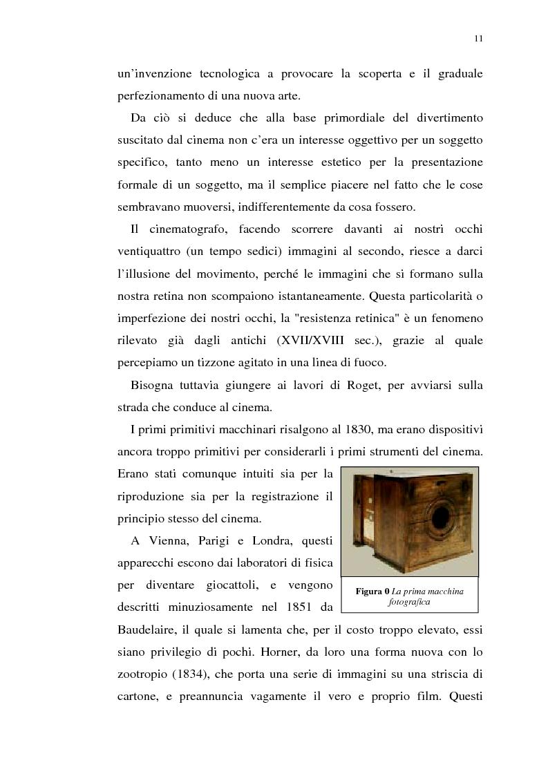 Anteprima della tesi: Fenomenologia del film e della visione cinematografica: struttura, identificazione, percezione, incanto., Pagina 6