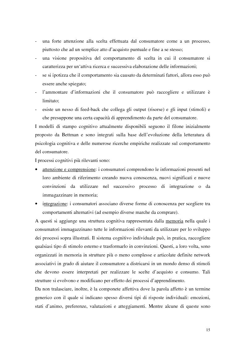 Anteprima della tesi: Il comportamento del consumatore, Pagina 12
