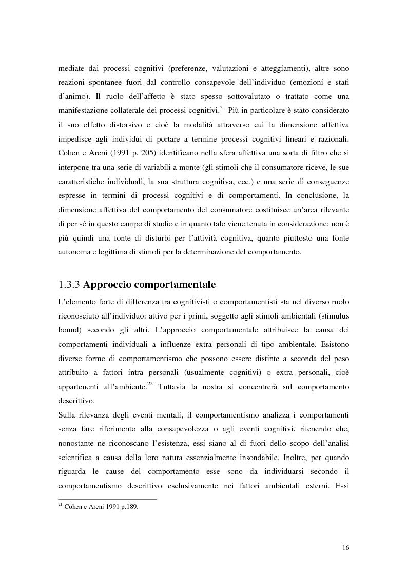 Anteprima della tesi: Il comportamento del consumatore, Pagina 13