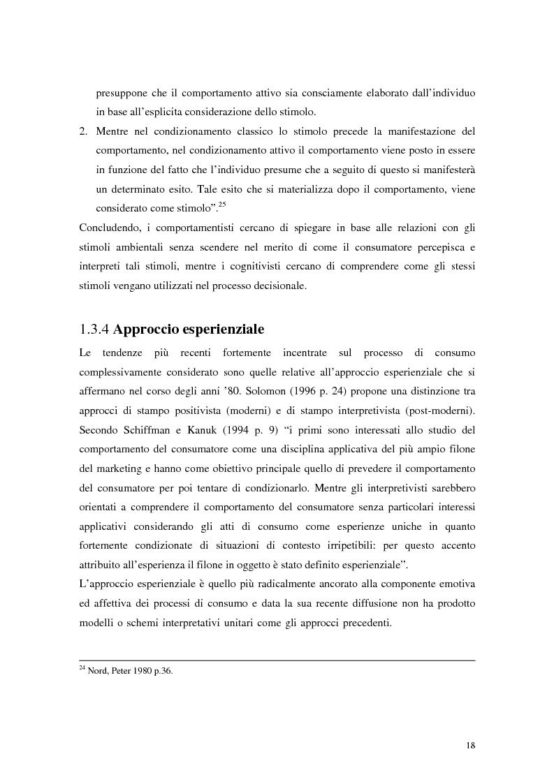 Anteprima della tesi: Il comportamento del consumatore, Pagina 15