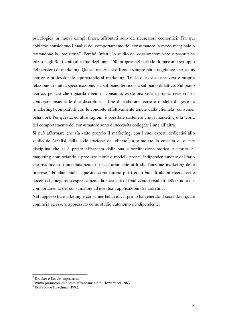 Anteprima della tesi: Il comportamento del consumatore, Pagina 2