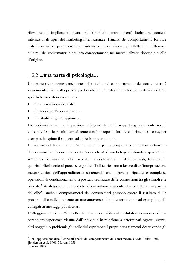 Anteprima della tesi: Il comportamento del consumatore, Pagina 4