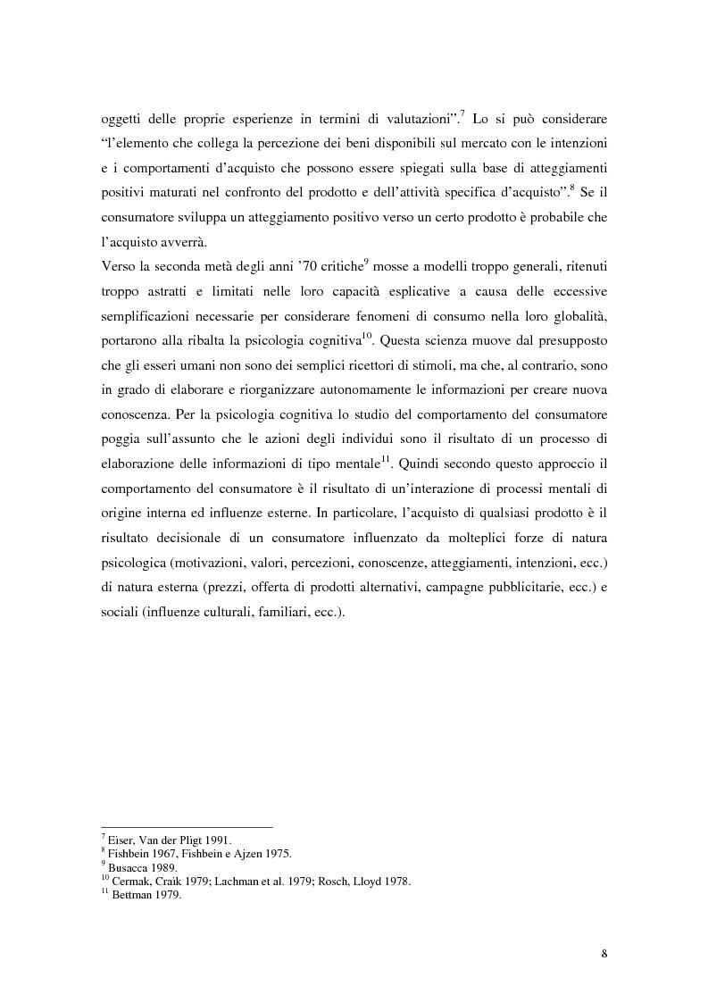 Anteprima della tesi: Il comportamento del consumatore, Pagina 5