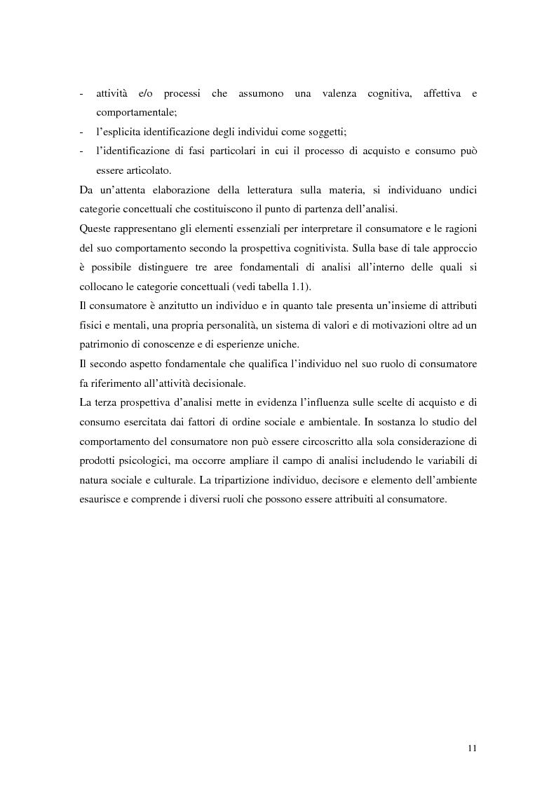 Anteprima della tesi: Il comportamento del consumatore, Pagina 8