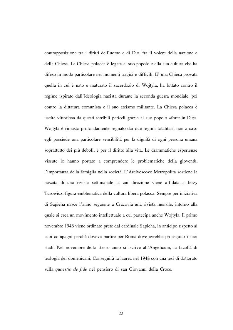 Anteprima della tesi: Etica e verità nelle encicliche di Karol Wojtyla, Pagina 15
