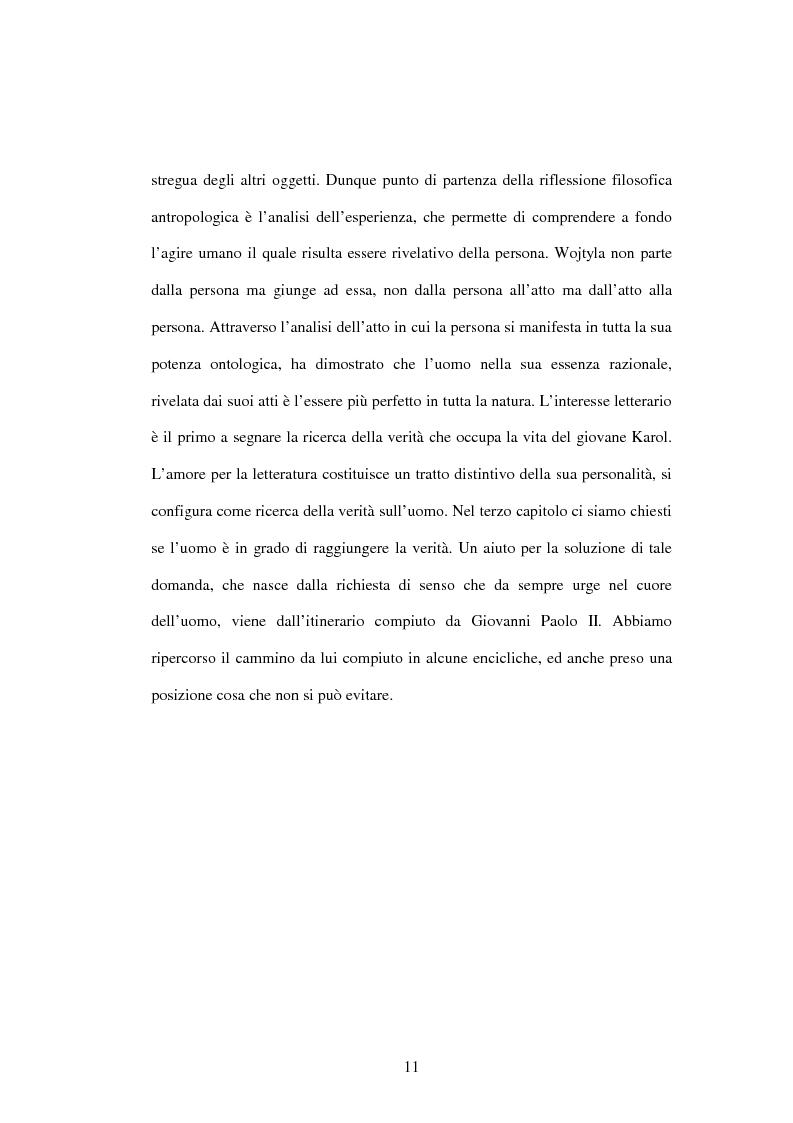 Anteprima della tesi: Etica e verità nelle encicliche di Karol Wojtyla, Pagina 4